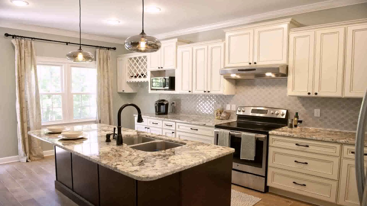 Off White Kitchen Cabinets With Backsplash Youtube