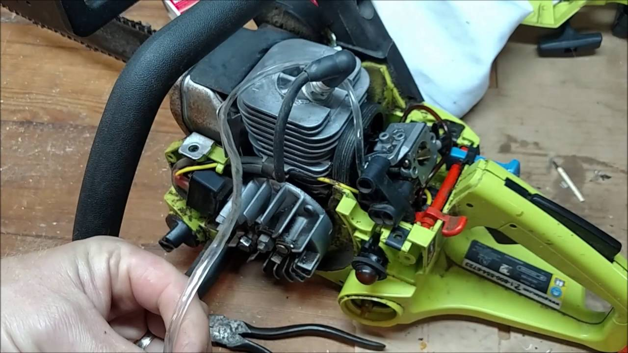 replacing fuel line on poulan chainsaw 2055le youtube rh youtube com