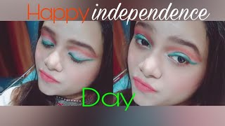 Tri colour eye makeup look||Independence day special||beauty obsessed