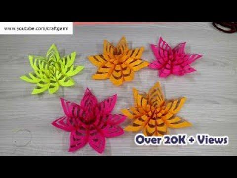 Kids Craft - Easy DIY Kirigami Flower