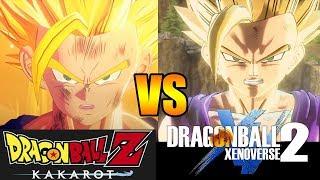 DRAGON BALL Z KAKAROT VS DRAGON BALL XENOVERSE 2 COMPARACIÓN DE GRÁFICOS PARTE 1