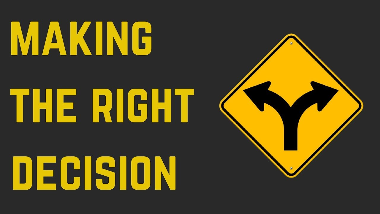 Image result for MAKING THE RIGHT decision