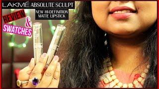 Lakme Absolute Hi-Definition Sculpt Matte Lipsticks Review + Swatches   Indian Youtuber