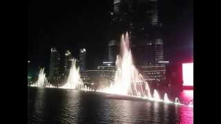 Dubai Mall Water Fountain Show set to Pavarotti's Nessun Dorma