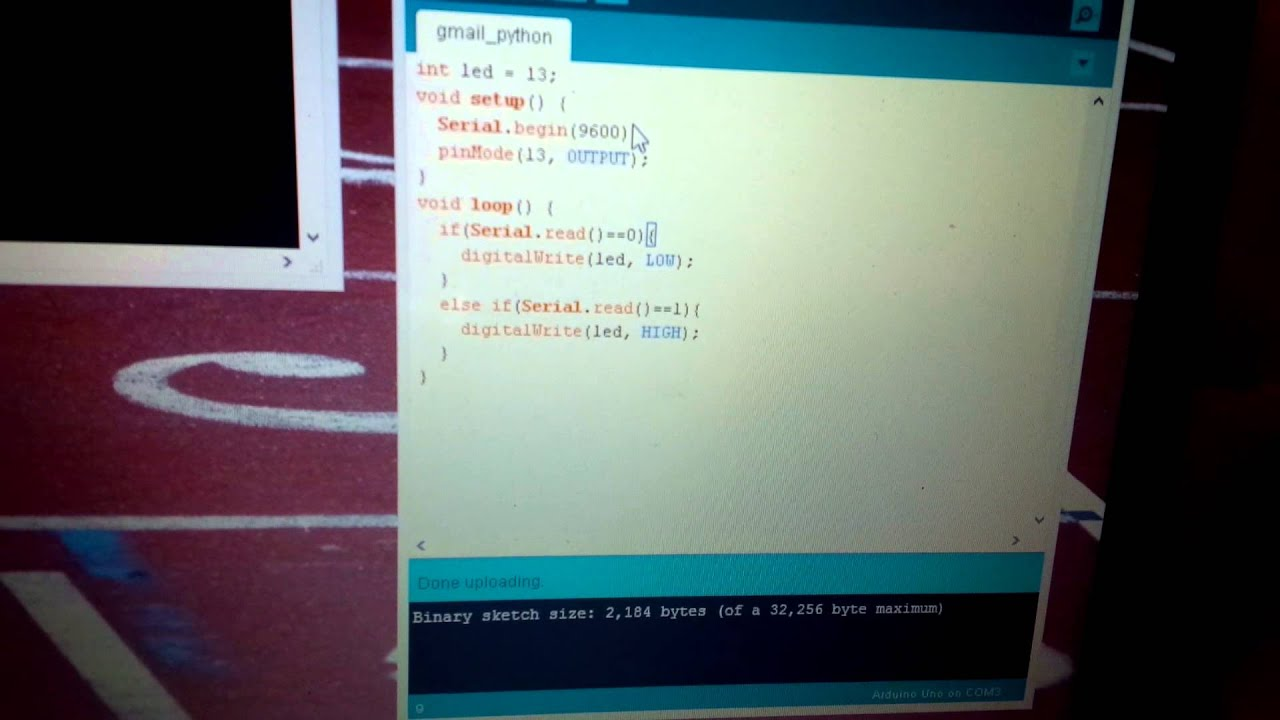 Arduino + Python + Gmail = Awesome!