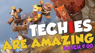 DotA 2 - TECHIES ARE AMAZING! Patch 7.00 Funny Moments