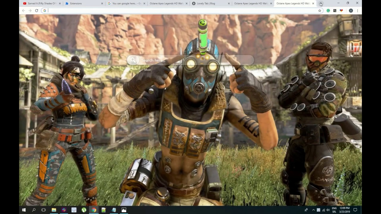 Cool New Apex Legend Octane Chrome Wallpaper New Tab Youtube