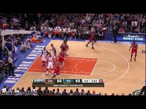 Derrick Rose vs Carmelo Anthony Full Highlights 2012 04 08 Bulls at Knicks   43 For Melo, Clutch!