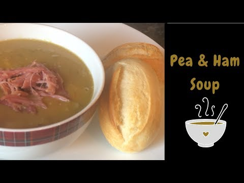 Classic Pea & Ham Easy Slow Cooker Soup Recipe :) Cook With Me!