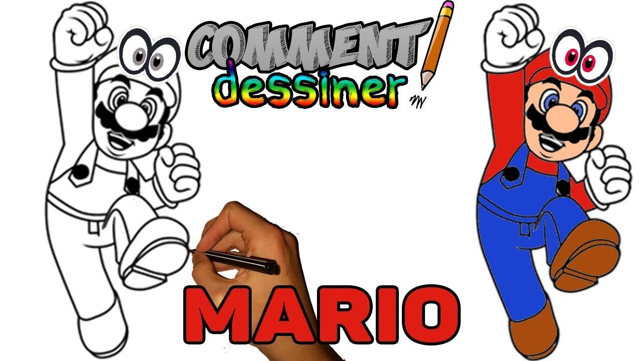 Comment dessiner mario super mario odyssey tape par tape comment dessiner youtube - Mario en dessin ...