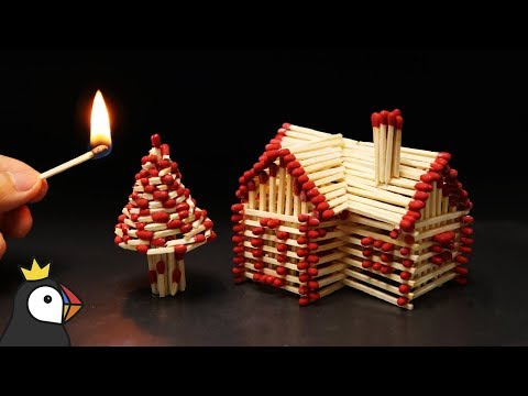 How to Make a Match House With Glue and Burn it Down