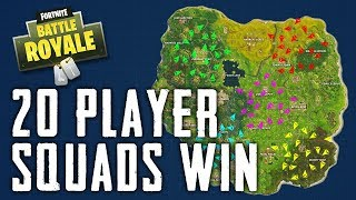 20 PLAYER SQUADS WIN in FORTNITE BATTLE ROYALE