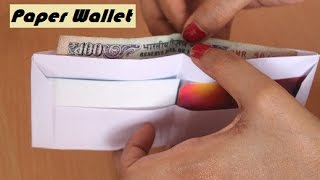 DIY - How to make a paper wallet   Origami wallet   Easy Paper Purse origami