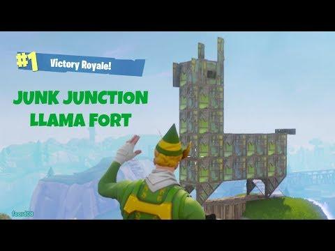 Guy Builds Junk Junction  Llama in Tomato Town (Fortnite Battle Royale)