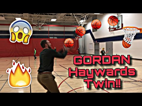 GORDON HAYWARDS TWIN SPLASHES 3'S AT MY SCHOOL!!