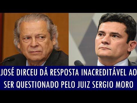 José Dirceu dá resposta inacreditável ao ser questionado pelo juiz Sergio Moro
