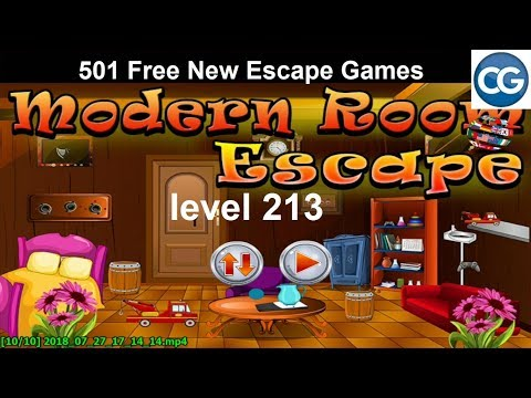 [Walkthrough] 501 Free New Escape Games level 213 - Modern room escape - Complete Game