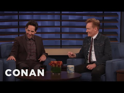 Paul Rudd Shows Conan A Clip From Living With Yourself - CONAN on TBS
