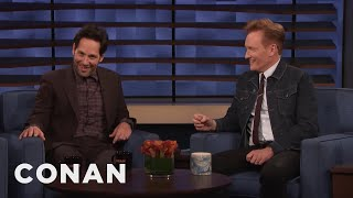 Paul Rudd Shows Conan A Clip From quotLiving With Yourselfquot - CONAN on TBS