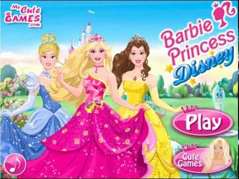 Барби собирается на бал. Игра мультик: Принцесса Барби. Игры для девочек. Игры одевалки