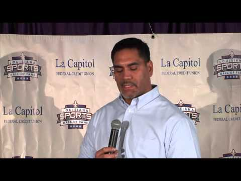 Kevin Mawae at the Louisiana Sports Hall of Fame