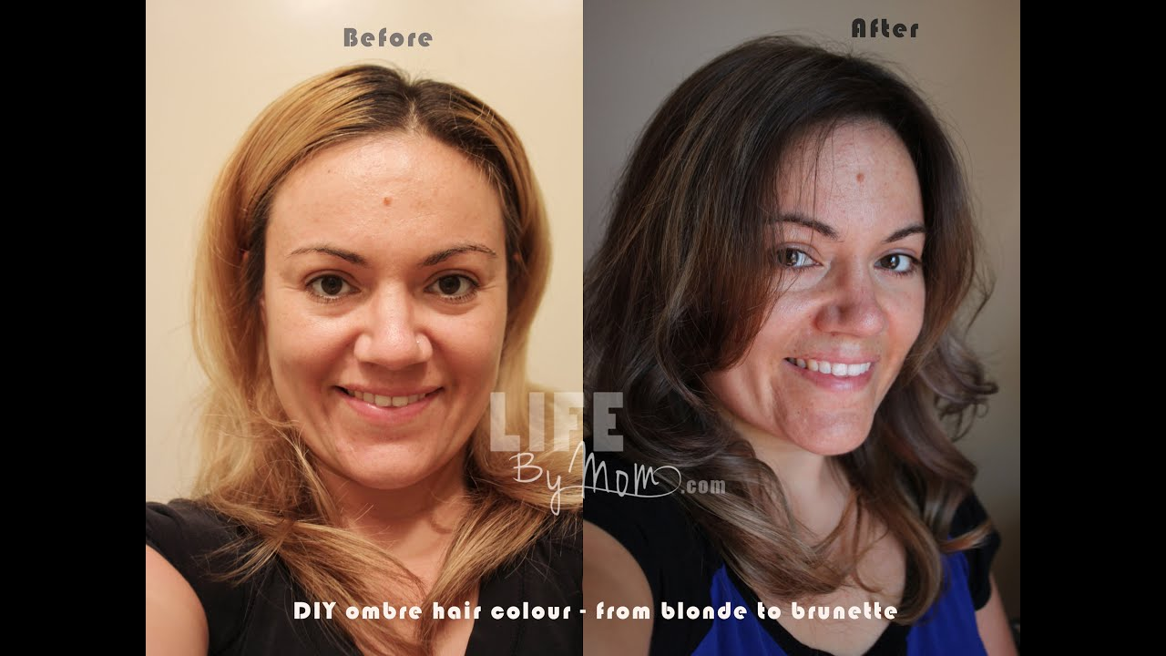 Diy ombre hair blonde to brunette ombre ombre from blonde diy ombre hair blonde to brunette ombre ombre from blonde blonde hair to ombre youtube solutioingenieria Gallery