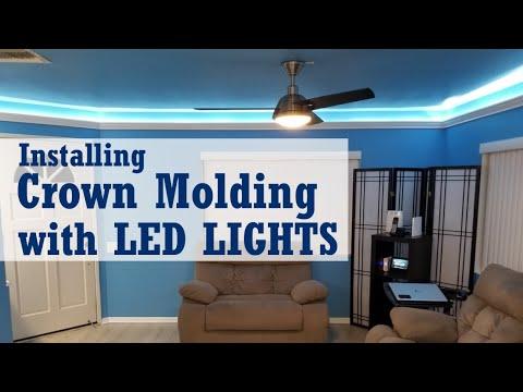 Poor Man's DIY: Installing Crown Molding with LED Lights