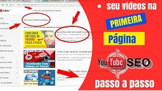 Como COLOCAR o seu vídeo na PRIMEIRA PÁGINA do YOUTUBE Como Rankear Vídeos no Youtube