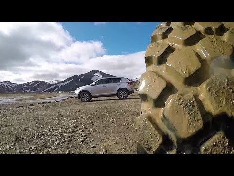 Expedition vehicle in the Icelandic fords
