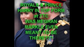 PRINCE HARRY in TOP FORM AT  TTC 2019- MEGHAN NOT SO MUCH- WAS SHE EVEN MEANT TO BE THERE???
