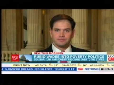 Senator Rubio Discusses The War on Poverty On CNN