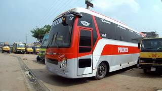 Baixar Prince Isuzu LT AC Bus First Look and depth review interior and exterior view in Bangladesh