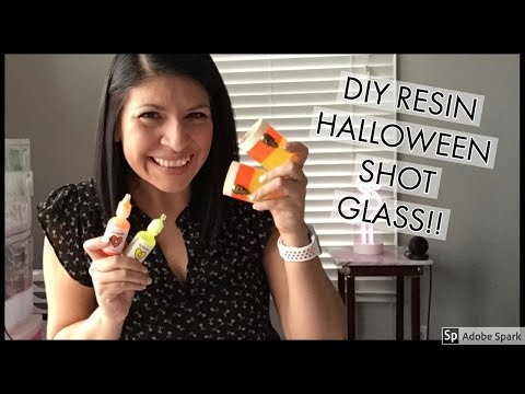 DIY HALOWEEN RESIN CANDY CORN SHOT GLASS FOR YOUR HALLOWEEN PARTY!!