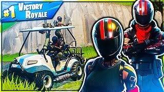 DRIVING CAR IN FORTNITE WITH REDLINE AND BURNOUT SKIN! 😱😀-Norwegian Fortnite