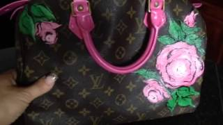 Painted Louis Vuitton bags