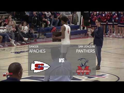 Sanger vs San Joaquin Memorial High School Boys Basketball LIVE 1/18/19