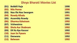 Divya Bharati Movies List