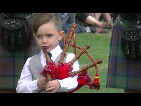 Young piper stealing the show at Canmore Highland Games 2017
