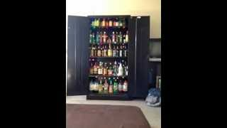 My Liquor Cabinet That I Worked All Day Installing Lights