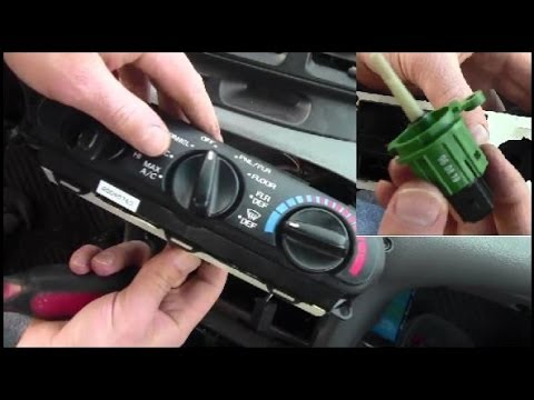 Heater Air Conditioning Control Removal On Ford Contour