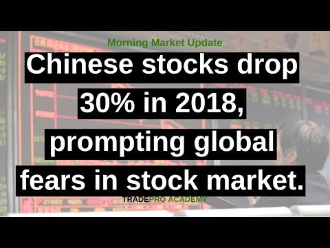 Chinese stocks drop 30% in 2018, prompting global fears in stock market.