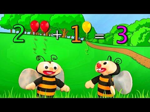 Aprendiendo a Sumar Los números del 0, 1, 2 y 3 - Sumar y Restar - Las Abejitas Sumadoras