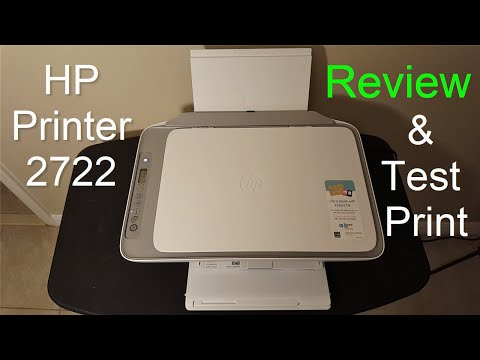 HP DeskJet 2722/2724 Printer Setup, Review & Print Test - 2020 - (Not a Unboxing Video)!