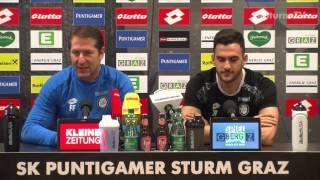 SK Sturm: Mediabriefing vor Red Bull Salzburg (19. Runde 2016/17)