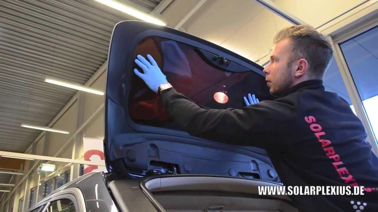 Einbau Autosonnenschutz Verdunklung Solarplexius Bmw 3