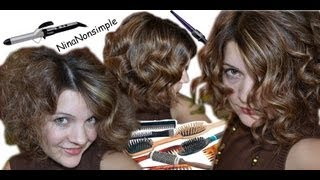Три варианта локонов/ УКЛАДКА волос плойкой / How to make different curls / Nina Nonsimple(, 2012-12-25T01:08:20.000Z)