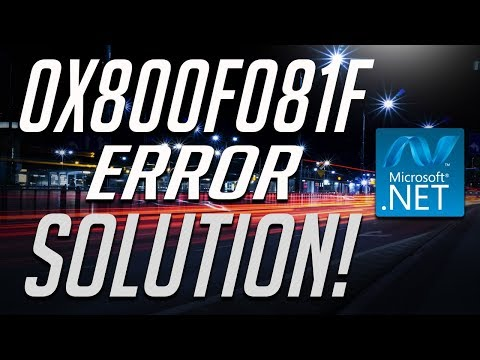 How to fix .NET Framework 3.5 Error 0x800f081f in Windows 10