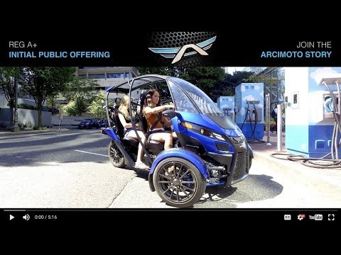 Arcimoto RegA+ Initial Public Offering - Join Our Story