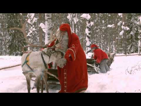 Santa Claus Reindeer Ride in Rovaniemi Lapland Finland Father Christmas Arctic Circle Santa Village from YouTube · Duration:  2 minutes 3 seconds