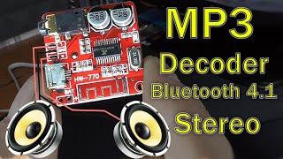 обзор беспроводного MP3 Bluetooth 4.1 декодера - Audio Decoder